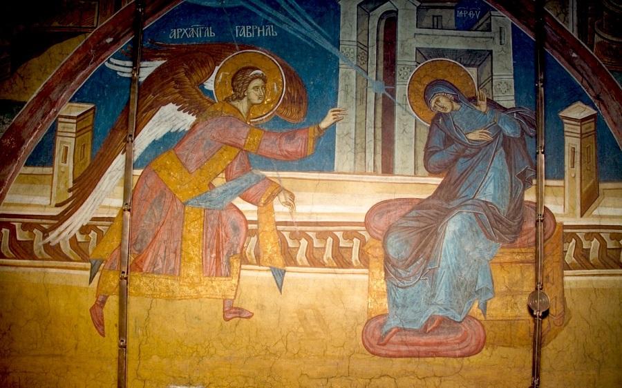 Благовещение. Монастырь Высокие Дечаны, Сербия, ХIV век